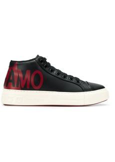 Ferragamo logo print sneakers