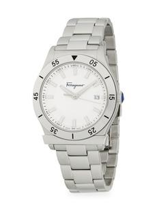 Ferragamo Logo Stainless Steel Bracelet Watch