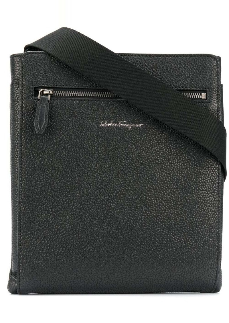 Ferragamo logo zipped messenger bag