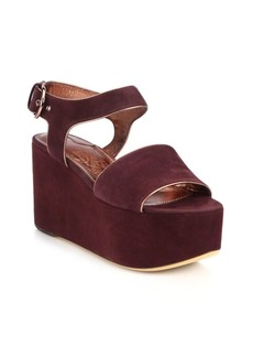 Ferragamo Lucrezia Suede Platform Sandals