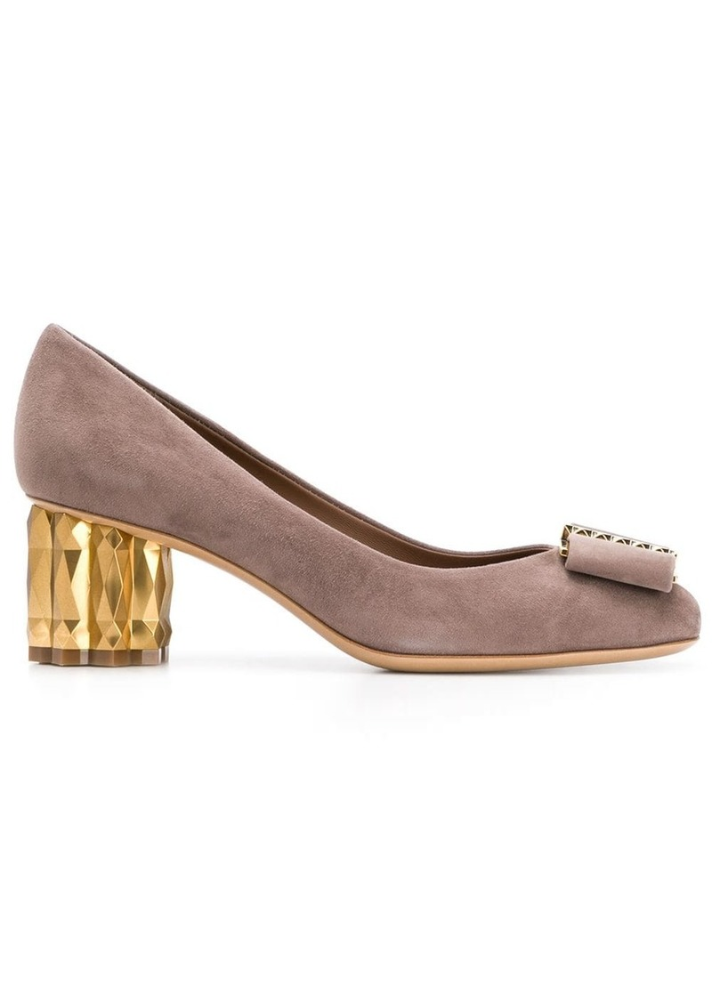 Ferragamo Mary Jane embellished heel pumps