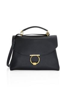 Ferragamo Medium Gancini Leather Top Handle Bag