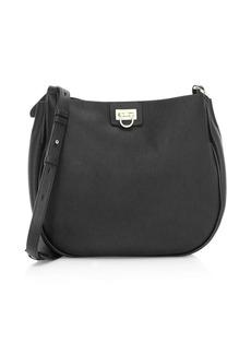 Ferragamo Medium Reverse Leather Hobo Bag