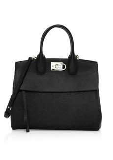 Ferragamo Medium Studio Leather Top Handle Bag