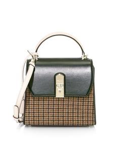 Ferragamo Medium Boxyz Tweed & Leather Top Handle Bag