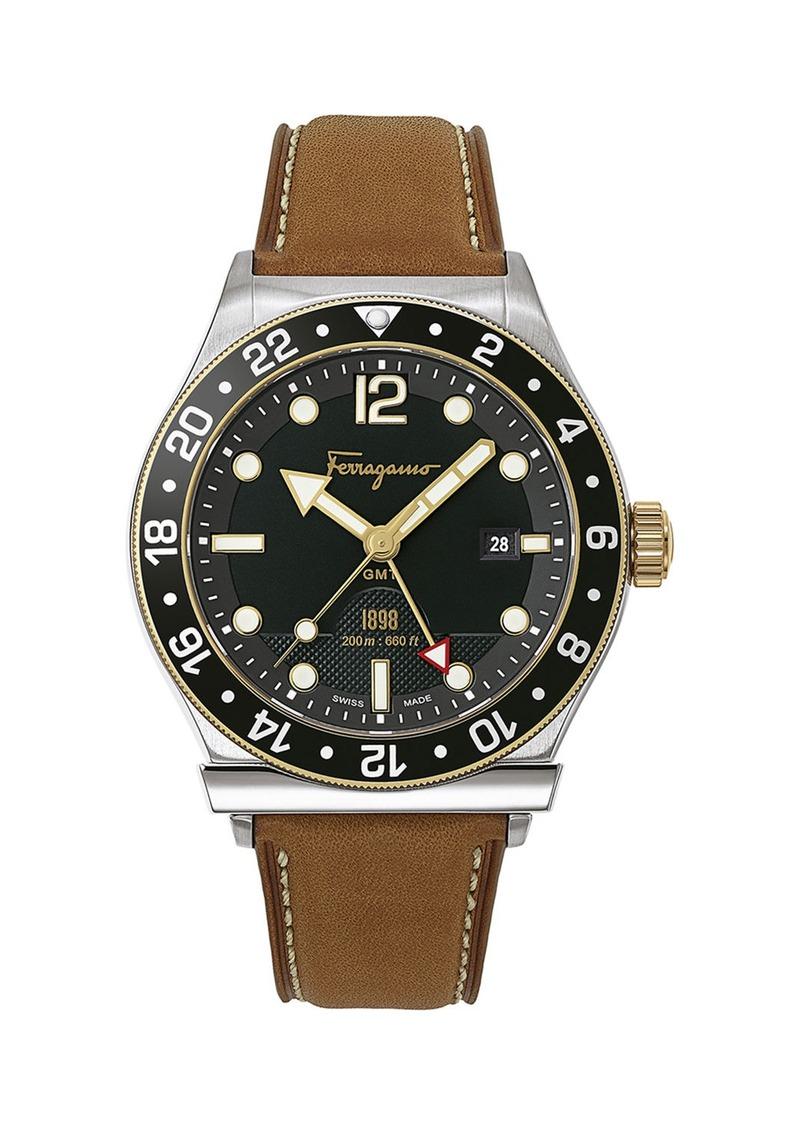 Ferragamo Men's 1898 Sport Leather Watch