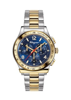 Ferragamo Men's 1898 Two-Tone Chronograph Bracelet Watch