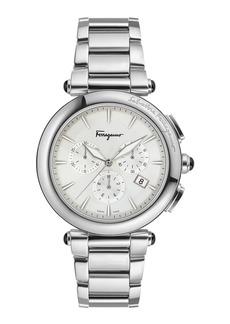 Ferragamo Men's 42mm Idillio Chronograph Watch w/ Bracelet Strap  Steel