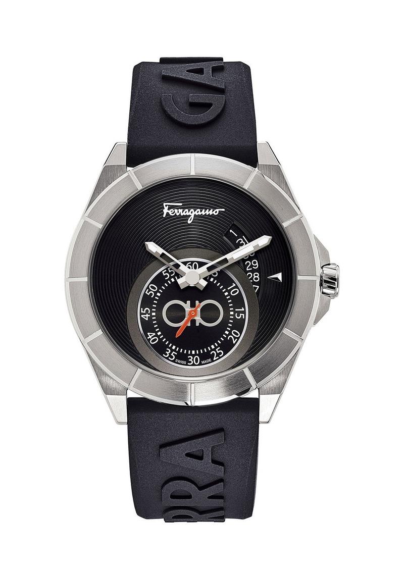 Ferragamo Men's 43mm Logo-Embossed Silicone Watch