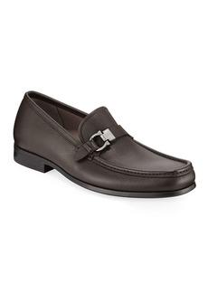 Ferragamo Men's Adam Gancio Leather Loafers