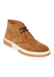Ferragamo Men's Alder Leather Chukka Boots