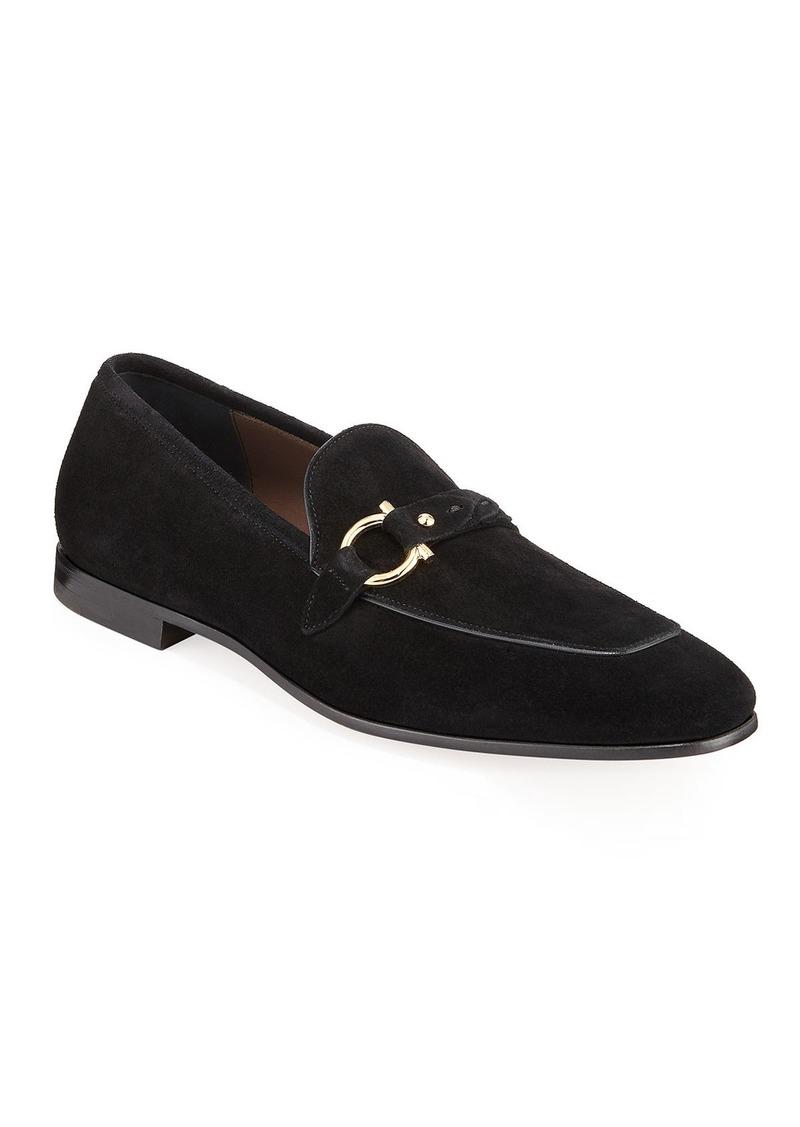 Ferragamo Men's Alessio Gancio-Bit Loafers