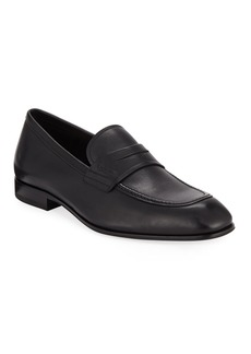 Ferragamo Men's Alred Leather Penny Loafers