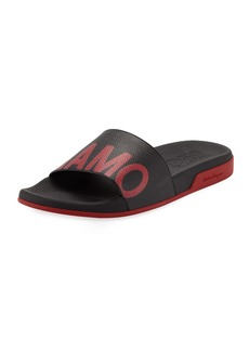 Ferragamo Men's Amos Logo Pool Slides