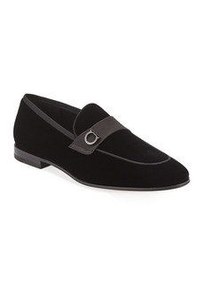 Ferragamo Men's Andrea Velvet Loafers
