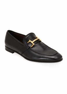 Ferragamo Men's Arlin Leather Slip-On Bit Loafers