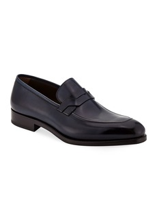 Ferragamo Men's Backer Braided Leather Loafer