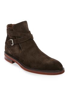 Ferragamo Men's Becker Suede Boots with Strap