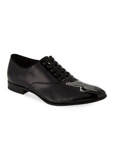 Ferragamo Men's Belshaw Patent Lace-Up Balmoral Dress Shoe