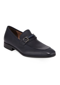 Ferragamo Men's Benford Gancini-Bit Leather Loafer