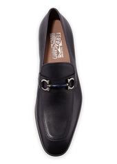 Ferragamo Men's Benford Gancini-Bit Leather Loafer