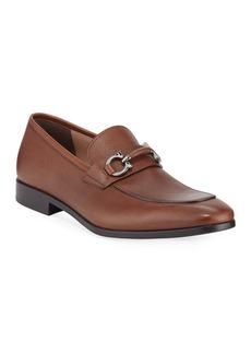 Ferragamo Men's Benford Leather Bit Loafers