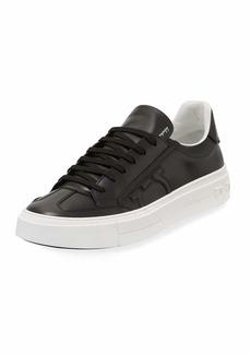 Ferragamo Men's Borg Leather Low-Top Sneakers