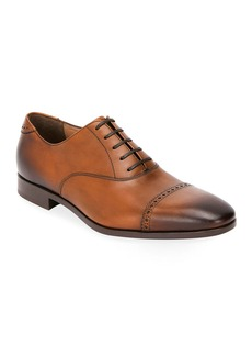 Ferragamo Men's Boston Leather Lace-Up Dress Oxford