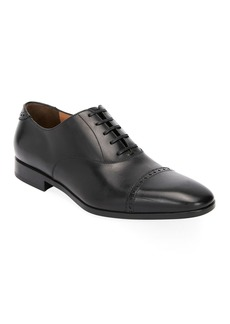 Ferragamo Men's Boston Leather Lace-Up Dress Oxford  Black