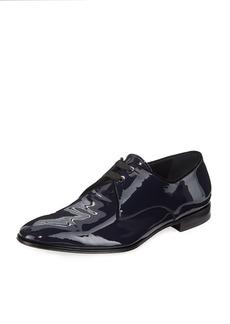 Ferragamo Men's Broadway Patent Leather Oxford Shoe