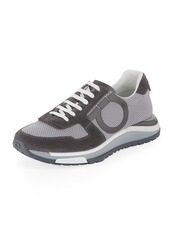 Ferragamo Men's Brooklyn Mixed-Media Trainer Sneakers