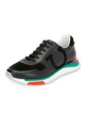 Ferragamo Men's Brooklyn Sneakers w/ Rainbow Sole