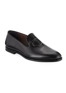 Ferragamo Men's Bruxelles Gancini-Embossed Leather Loafer