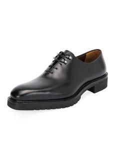 Ferragamo Men's Burlap Lug-Sole Lace-Up Shoes