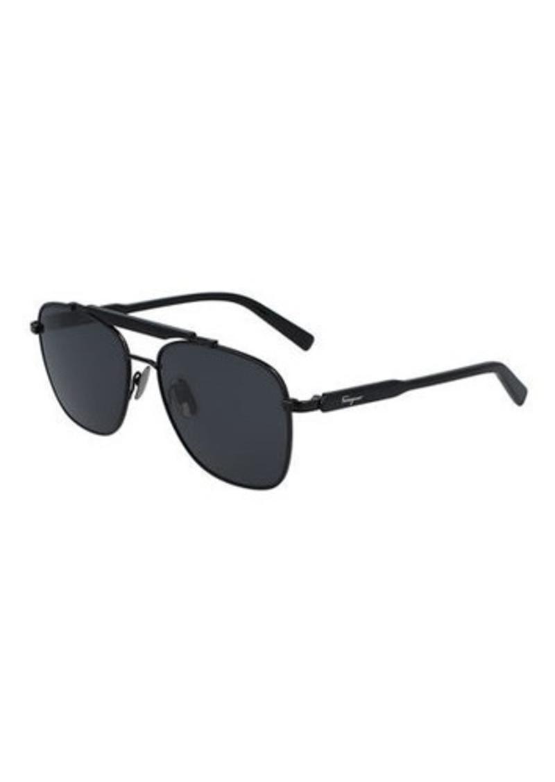 Ferragamo Men's Classic Logo Navigator Sunglasses