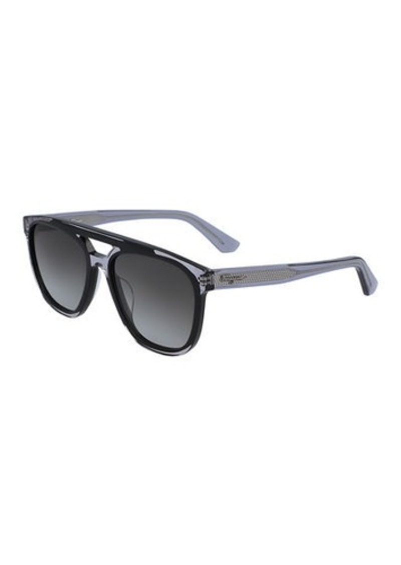 Ferragamo Men's Classic Logo Two-Tone Navigator Sunglasses