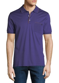 Ferragamo Men's Contrast-Trim Jersey Polo Shirt