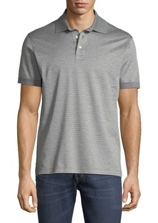 Ferragamo Men's Cotton Gancini-Jacquard Polo Shirt