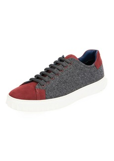 Ferragamo Men's Cube 11 Wool Low-Top Sneakers