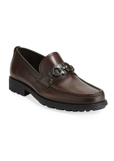 Ferragamo Men's David Leather Lug-Sole Loafer