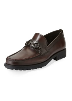 Ferragamo Men's David Leather Lug-Sole Loafer
