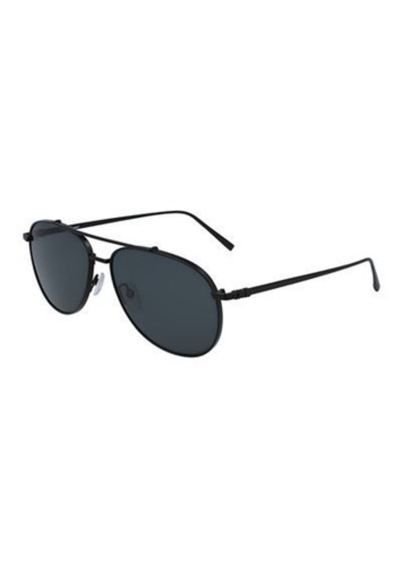 Ferragamo Men's Double-Gancio Aviator Sunglasses