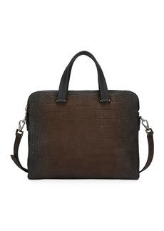 Ferragamo Men's Firenze Animal Embossed Leather Briefcase