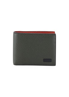 Ferragamo Men's Firenze Contrast-Lined Leather Bi-Fold Wallet