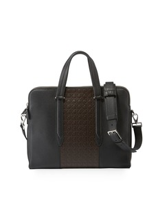 Ferragamo Men's Firenze Gamma Textured Briefcase