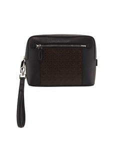 Ferragamo Men's Firenze Gamma Textured Leather Belt Bag