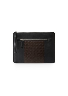 Ferragamo Men's Firenze Gamma Textured Leather Document Holder