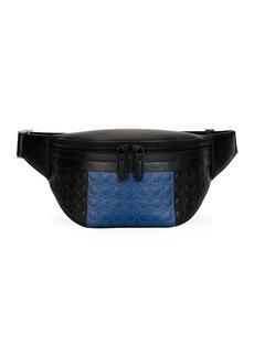 Ferragamo Men's Firenze Gamma Two-Tone Gancini Belt Bag