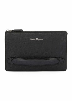 Ferragamo Men's Firenze Leather Pouch with Handle