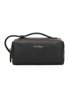 Ferragamo Men's Firenze Leather Toiletry Bag